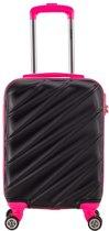 Decent Lumi Fix - Handbagage Koffer - 55 cm - Black/Pink