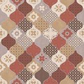 Home tegels beige/rood behang (vliesbehang, beige)