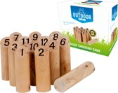 Outdoor Play Wood Throw Game met getallen