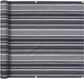 vidaXL Balkonscherm 90x600 cm oxford stof streep grijs