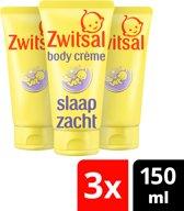 Zwitsal Baby Slaap Zacht Body Crème Lavendel - 3 x 200 ml - Voordeelverpakking