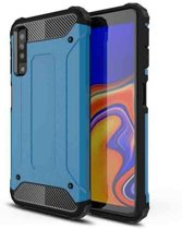 Teleplus Samsung Galaxy A30s Case Dual Layer Tank Cover Blue hoesje