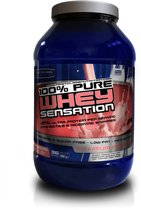 100% Whey Sensation Strawberry 900 gr whey protein & Isolaat / eiwitshake
