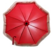 ISI Mini - Universele parasol - rood met bontrand - Limited Edition