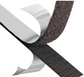 Klittenband Zelfklevend Zwart 1.9 cm breed en 1 meter lang