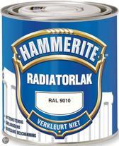 Hammerite Radiatorlak Kleurvast Ral9010 0,25 Ltr