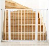 BabyDan - Premier PLUS - Wit - Klemhek met 6 spijlen uitbreiding 112 -119.3 cm - met gratis wall-cups