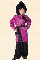 Roze geisha kostuum voor meisjes 128