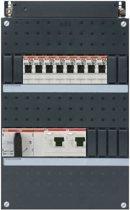 ABB groepenkast 3 fase met 8 groepen en afmetingen 330x220 mm