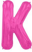 Letter K Magenta lucht 41cm