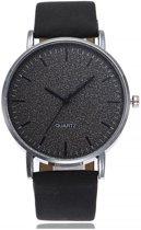 Stone Black Quartz Horloge | Zwart | PU Lederen Band | Fashion Favorite