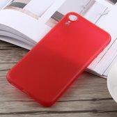 0,3 mm Ultradun Frosted PP-hoesje voor iPhone XR (rood)