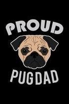 Proud Pug Dad: Hangman Puzzles - Mini Game - Clever Kids - 110 Lined Pages - 6 X 9 In - 15.24 X 22.86 Cm - Single Player - Funny Grea