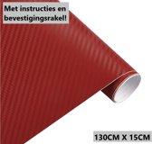 Rode Carbon Auto Wrap Folie / Car Wrapping Folie 130CMX15CM
