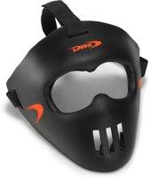 DITA? Facemask Spelersmasker Unisex - Zwart/fluo rood