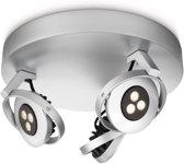 Philips myLiving Teqno - Plafondspot - 3 spots - LED - Aluminium