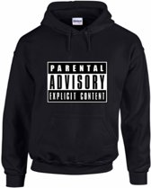 hippe sweater | hoodie | Parental Advisory Explicit Content | maat XXL | printed by topmen