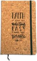 Christelijk Notitieboekje - Luke 1:37 - Faith Make Things Possible - DagelijkseBroodkruimels