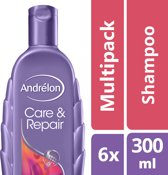 Andrélon Care & Repair - 6 x 300 ml - Shampoo - Voordeelverpakking