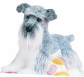 Pluche Schnauzer hond knuffel 41 cm - knuffeldier / knuffels