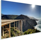 Bixby Creek Bridge in Big Sur Californië Plexiglas 60x40 cm - Foto print op Glas (Plexiglas wanddecoratie)