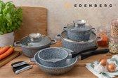 Edënbërg Stonetec Line - Luxe Pannenset - 10 delig - met 2 mini pannenlapjes en aroma dop!