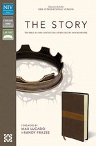 NIV, The Story, Leathersoft, Brown/Tan