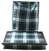 Margot Steel Laptray, Schoottafel, Schootkussen, Laptopkussen, Dienblad met kussen dubbele Tartan Dress Gordon - 41x31x10 cm