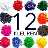 kleurstof kit voor het maken van kaarsen - serie van 12 kleurstofvlokken