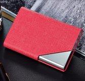 Royal Business® - Luxe Business Card Holder - Roze - Visitekaarthouder - Aluminium - Kaartjes - bedrijfskaart