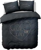 Nightlife Dekbedovertrek Shades of love 140x200/220 - Polykatoen - Grijs