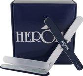 Herôme Duo Vijlenset - Glass Nail File & Super Shine