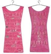 Roze Jurkje met 30 Vakjes voor Sieraden - Ringen, Oorbellen, Accesoires - 70x36 cm - Dielay