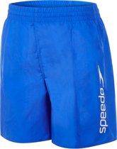 "Speedo Challenge 15"" Zwemshort Junior  Zwembroek - Maat L  - Unisex - blauw/wit"