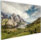 Berggebied Glas 90x60 cm - Foto print op Glas (Plexiglas wanddecoratie)