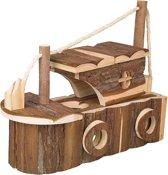 Nobby Boot Sparrenhout  - Knaagdierspeelgoed - Bruin - 35 x 15 x 28 cm