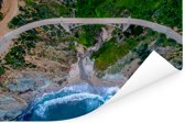 Bixby Creek en Bixby Creek Bridge in Big Sur Amerika Poster 30x20 cm - klein - Foto print op Poster (wanddecoratie woonkamer / slaapkamer)