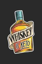 Whiskey Is Keto: Keto Alcohol Diet. Graph Paper Composition Notebook to Take Notes at Work. Grid, Squared, Quad Ruled. Bullet Point Dia