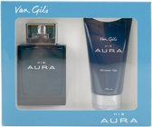 Van Gils His Aura Valentijn Setje  Shower Gel 75 ML en Eau de Toilette 75 ML Men