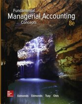 Fundamental Managerial Accounting Concepts 8e