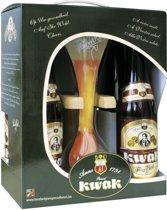 Pauwel Kwak Cadeauverpakking - 4 stuks + glas