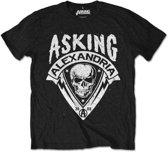 Asking Alexandria - Skull Shield heren unisex T-shirt zwart - S