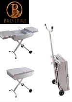 Broilfire RVS Trolly barbecue inklapbare BBQ