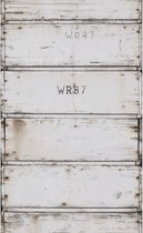 Stapelgoed - Fotobehang - Houten Krat - Wit - 900x50cm
