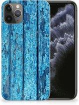 iPhone 11 Pro Bumper Hoesje Blauw Wood