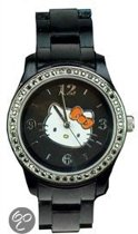 Hello Kitty Horloge Zwart Met Strass