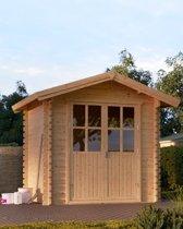 Tuinhuisje blokhut Nano 2,5x2mtr met houten vloer