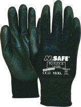 M-Safe allround PU-flex werkhandschoenen 14-086 - zwart -12 paar- maat L/9