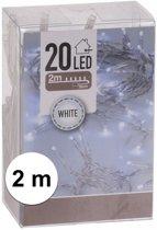 Kerstverlichting op batterij helder wit 20 lampjes