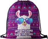 Alpaca save the dream gymtas- Perfect als gymtas/zwemtas/schooltas